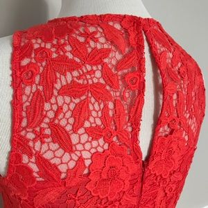 J. Crew Dresses - J.Crew Collection Lace Dress- Red Melon